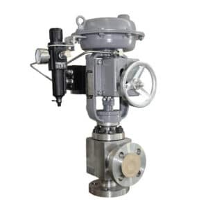 Top Guided Single Seated Angle Control Valve
