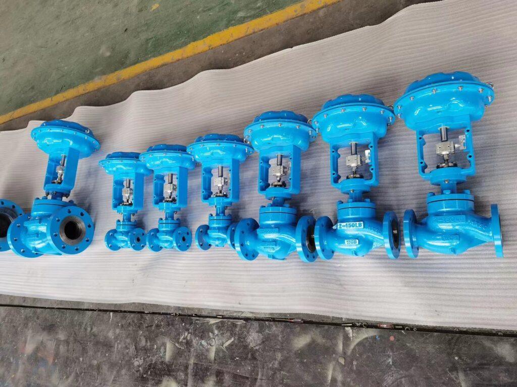 pneumatic globe type control valves 2