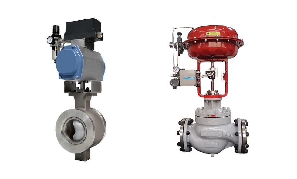 v port ball valve and control valve